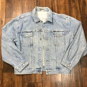 Vintage Guess Distrissed Denim Jean Jacket XL
